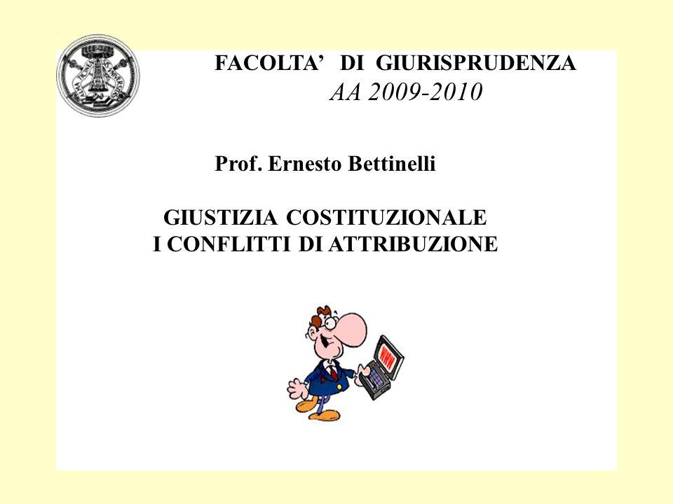AA 2009-2010 FACOLTA' DI GIURISPRUDENZA Prof. Ernesto Bettinelli