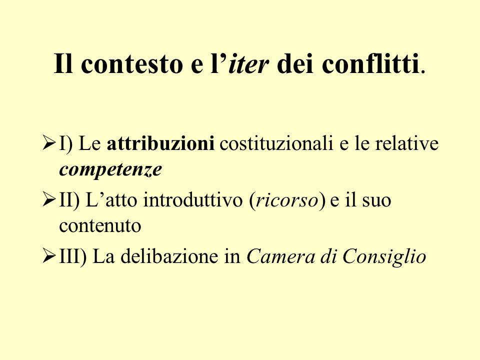 Il contesto e l'iter dei conflitti.