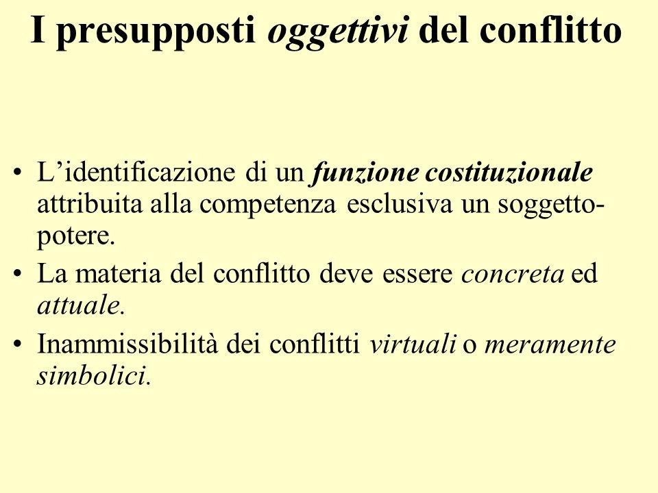 I presupposti oggettivi del conflitto