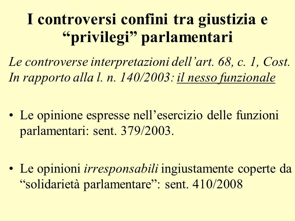 I controversi confini tra giustizia e privilegi parlamentari
