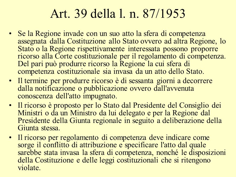 Art. 39 della l. n. 87/1953