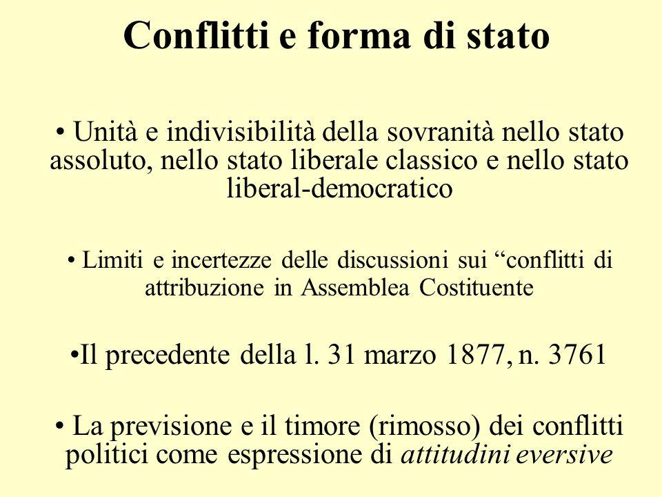 Conflitti e forma di stato