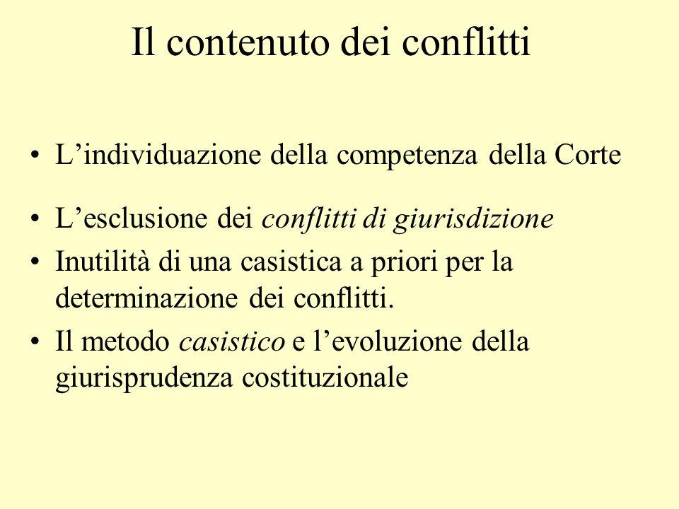 Il contenuto dei conflitti