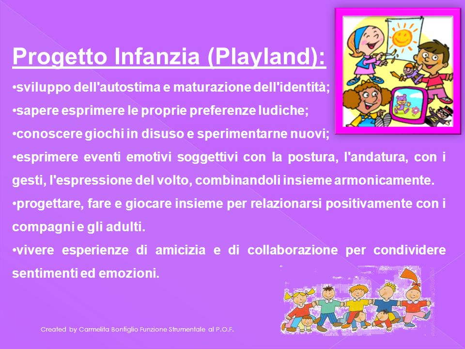 Progetto Infanzia (Playland):