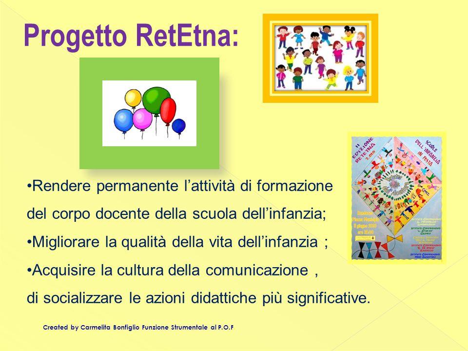 Progetto RetEtna: Rendere permanente l'attività di formazione