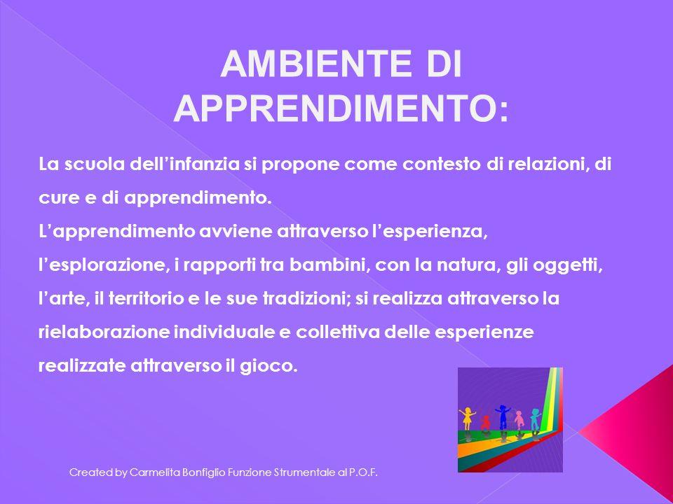 AMBIENTE DI APPRENDIMENTO: