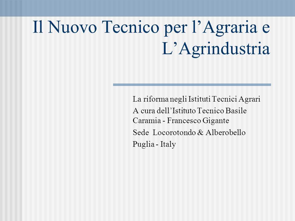 Il Nuovo Tecnico per l'Agraria e L'Agrindustria