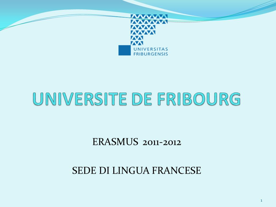 UNIVERSITE DE FRIBOURG