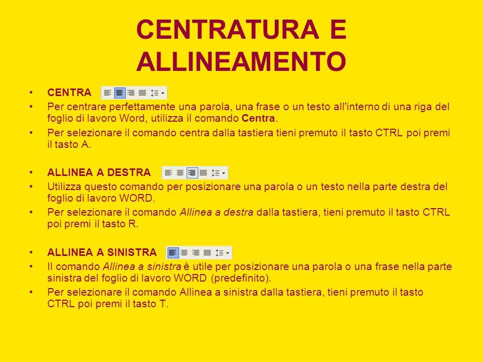 CENTRATURA E ALLINEAMENTO