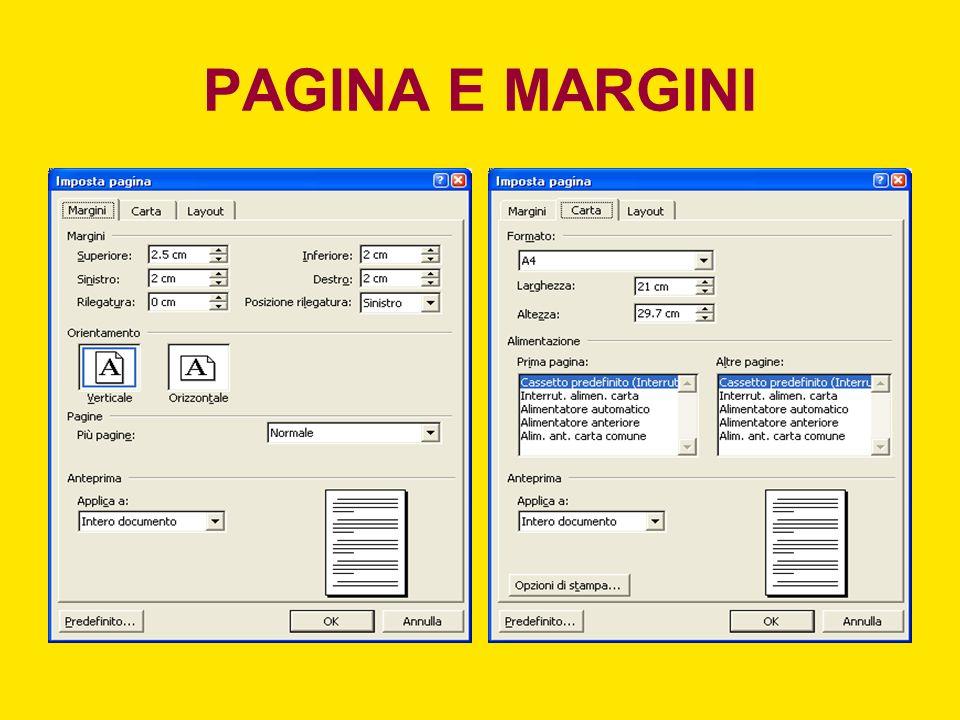 PAGINA E MARGINI
