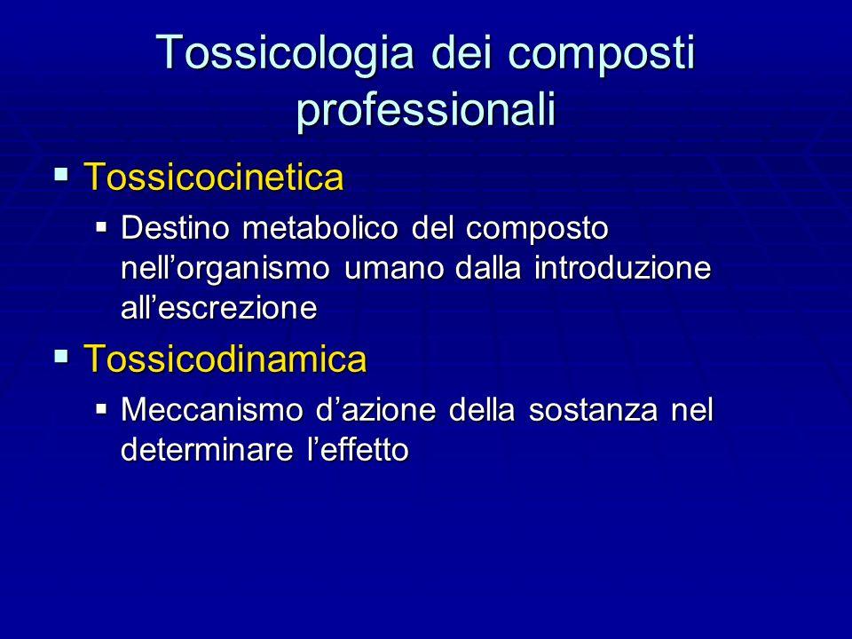 Tossicologia dei composti professionali