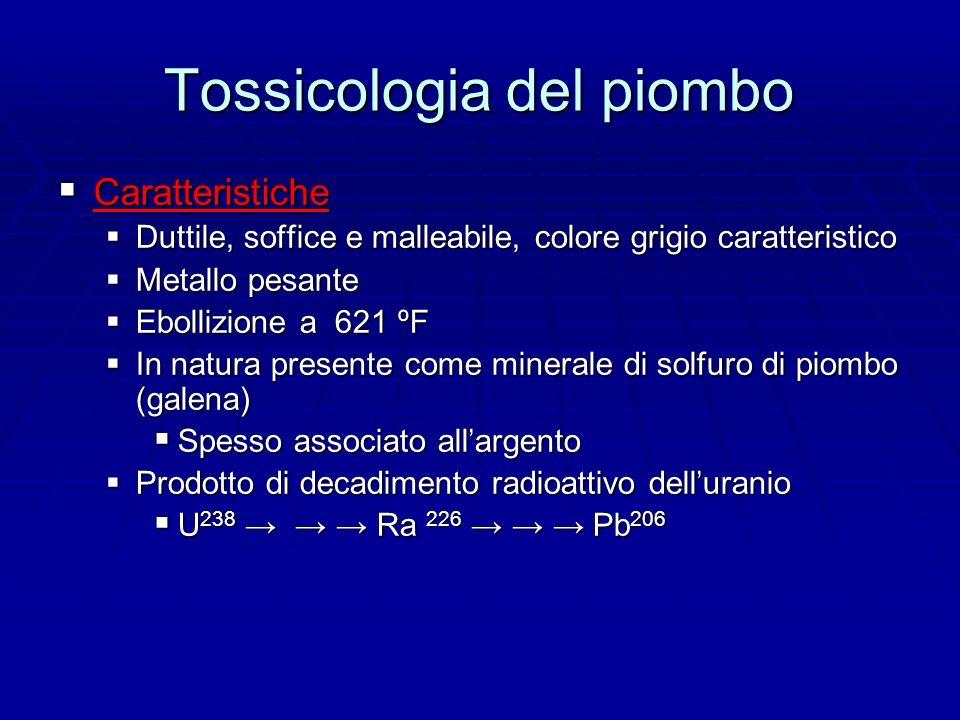 Tossicologia del piombo