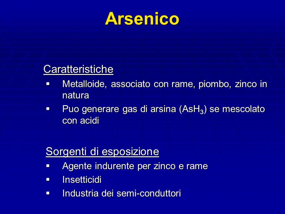 Arsenico Caratteristiche Sorgenti di esposizione