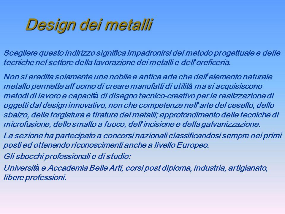 Design dei metalli
