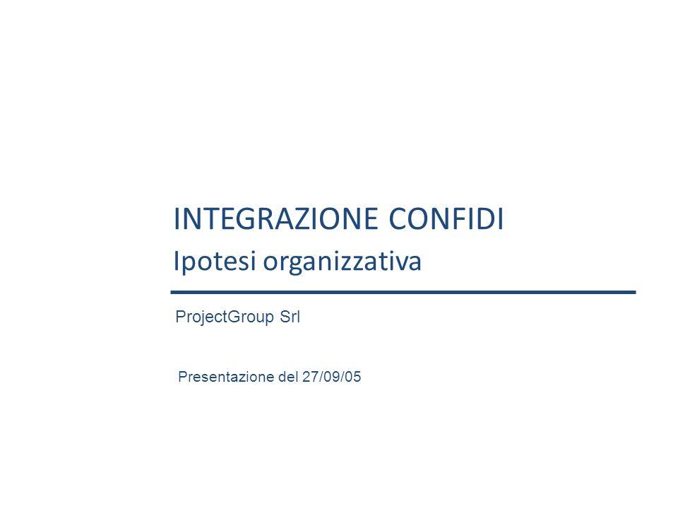 INTEGRAZIONE CONFIDI Ipotesi organizzativa