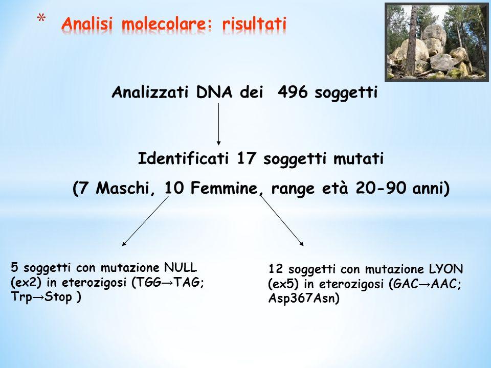 Analisi molecolare: risultati