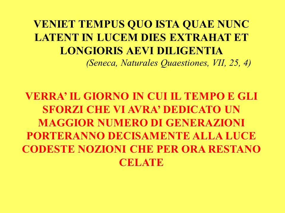 (Seneca, Naturales Quaestiones, VII, 25, 4)