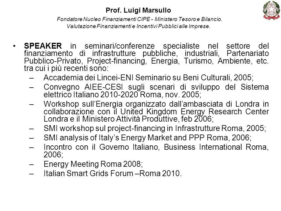 Accademia dei Lincei-ENI Seminario su Beni Culturali, 2005;