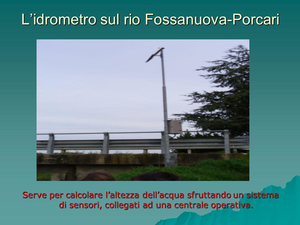 L'idrometro sul rio Fossanuova-Porcari