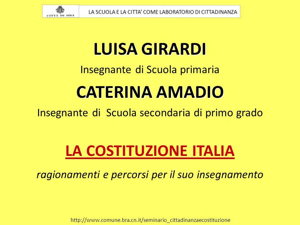 LA COSTITUZIONE ITALIA