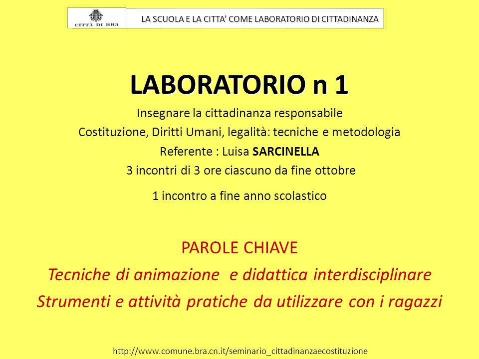 LABORATORIO n 1 PAROLE CHIAVE