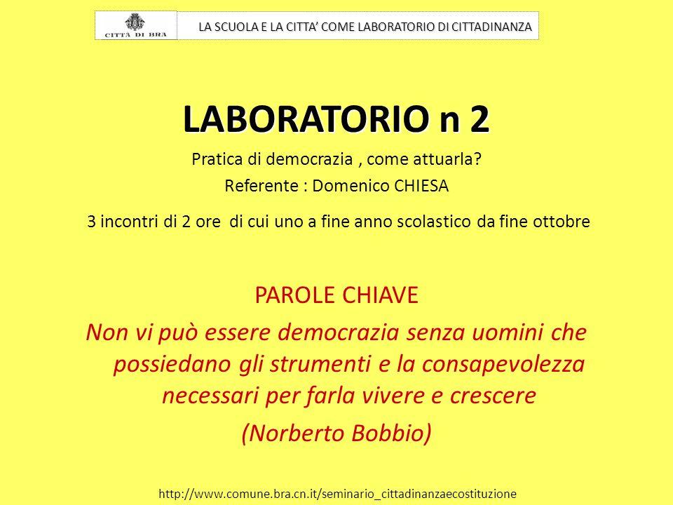 LABORATORIO n 2 PAROLE CHIAVE
