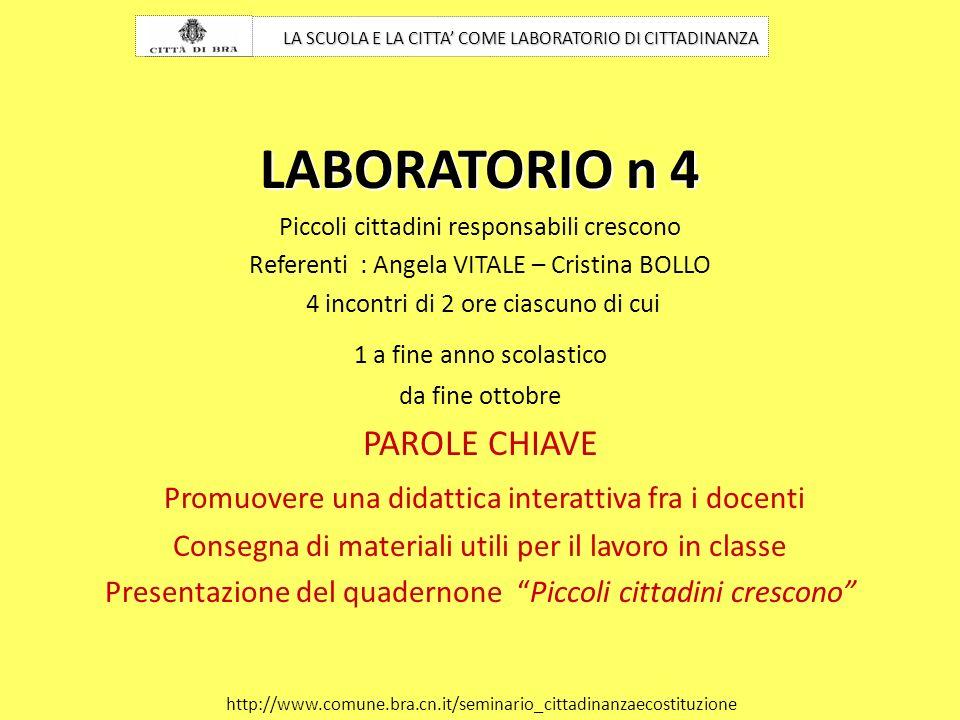 LABORATORIO n 4 PAROLE CHIAVE