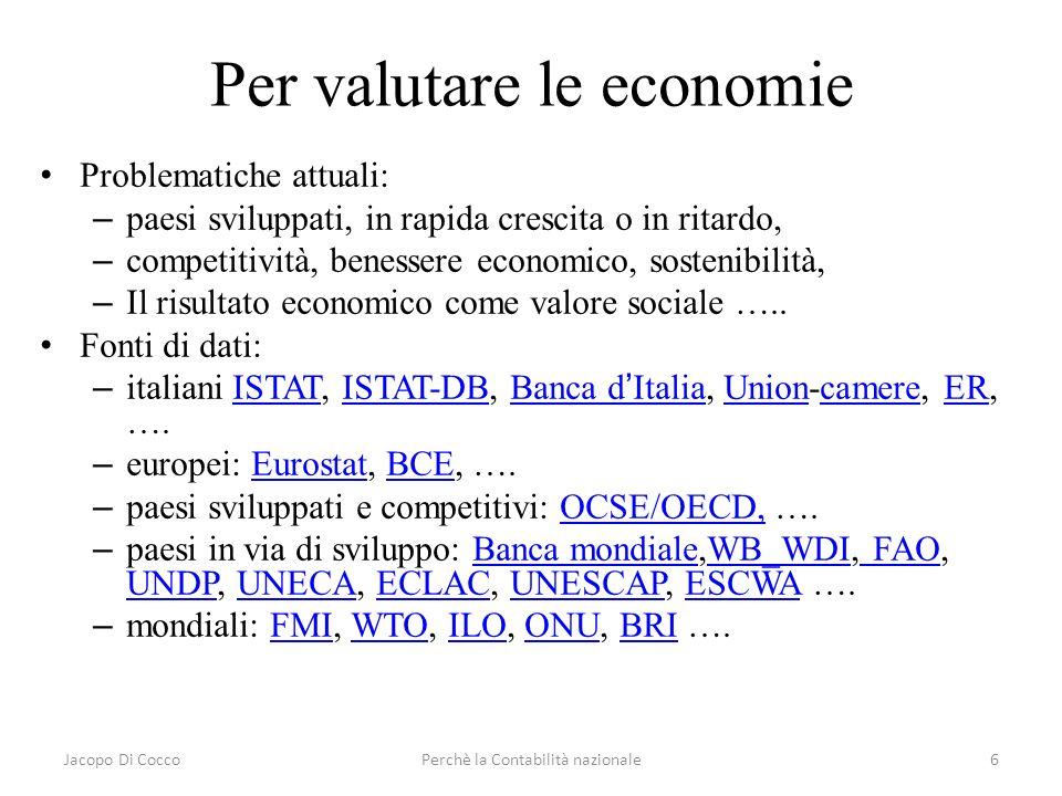Per valutare le economie