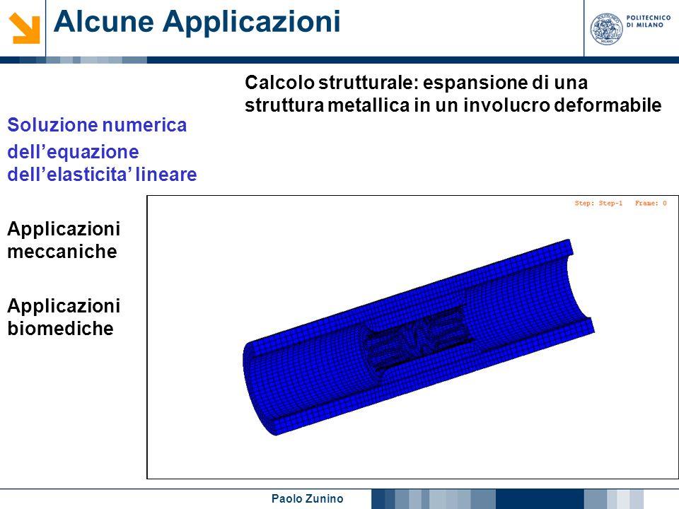 Alcune Applicazioni Calcolo strutturale: espansione di una struttura metallica in un involucro deformabile.