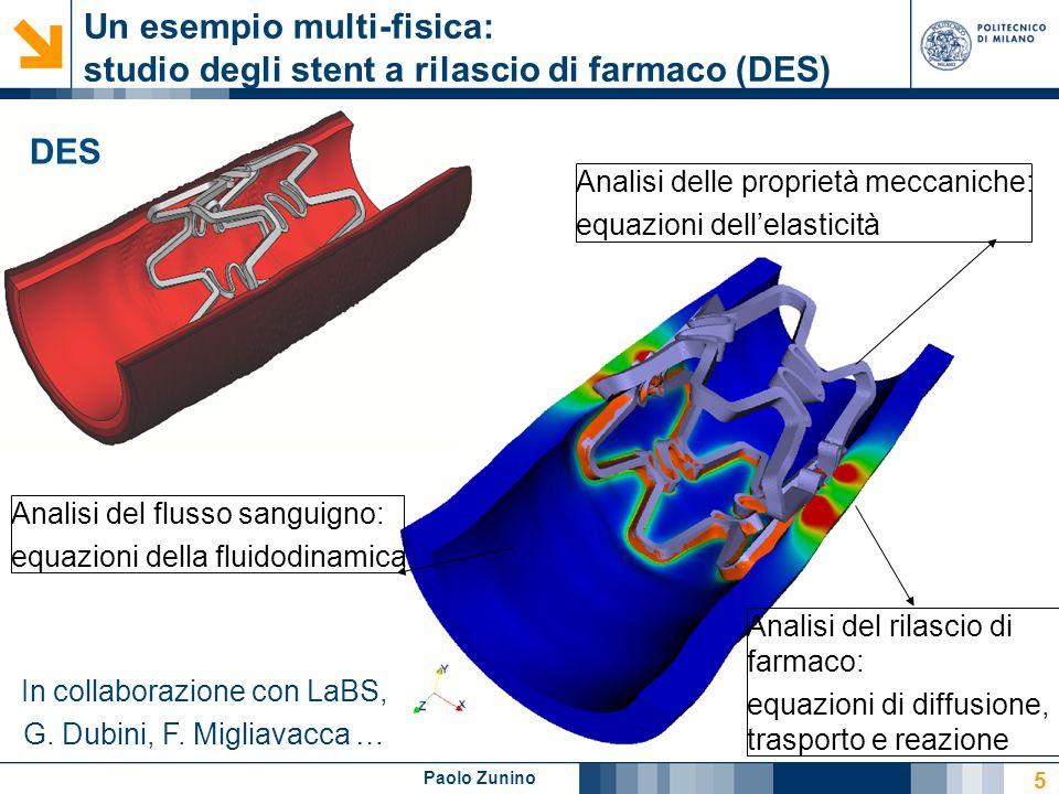 Un esempio multi-fisica: studio degli stent a rilascio di farmaco (DES)
