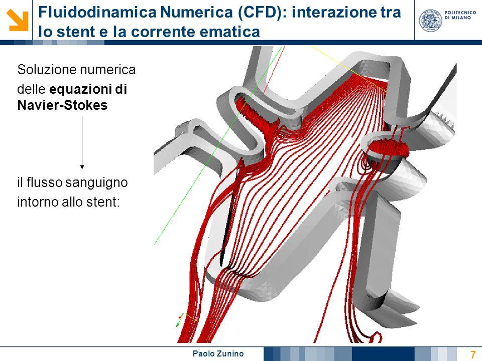 Fluidodinamica Numerica (CFD): interazione tra lo stent e la corrente ematica