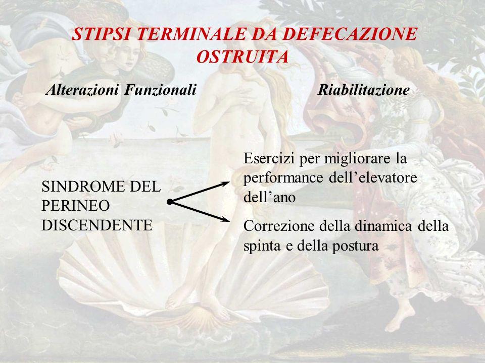 STIPSI TERMINALE DA DEFECAZIONE OSTRUITA