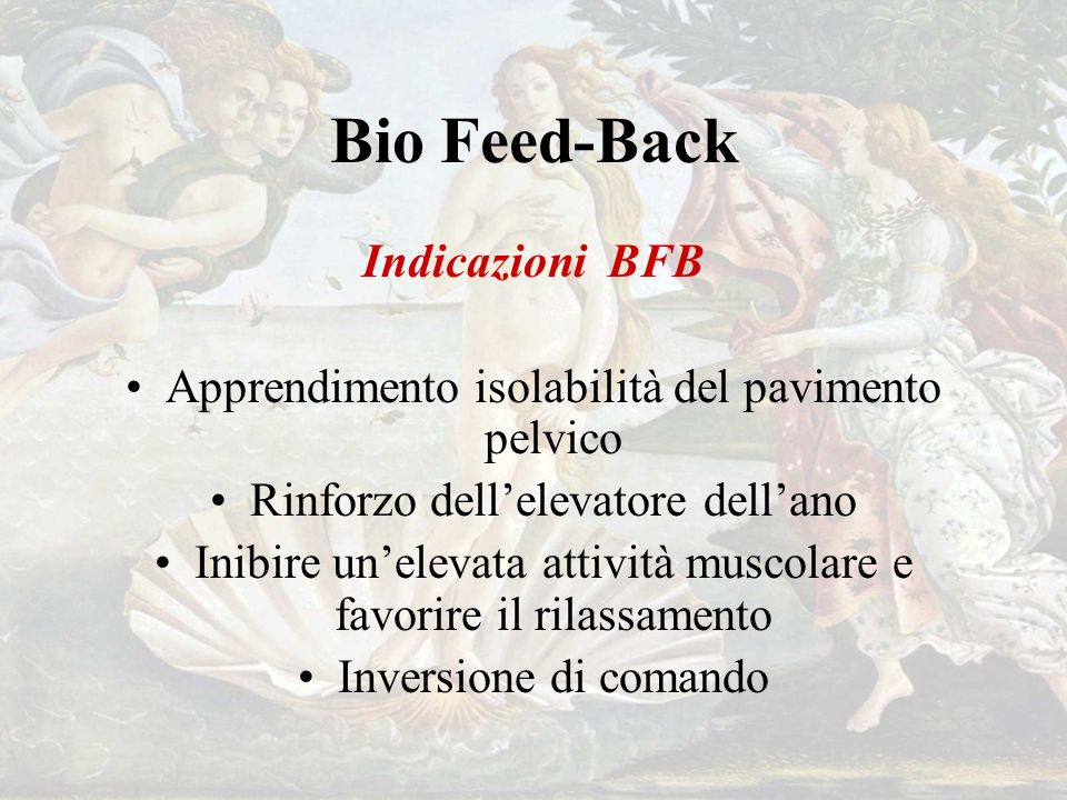 Bio Feed-Back Indicazioni BFB