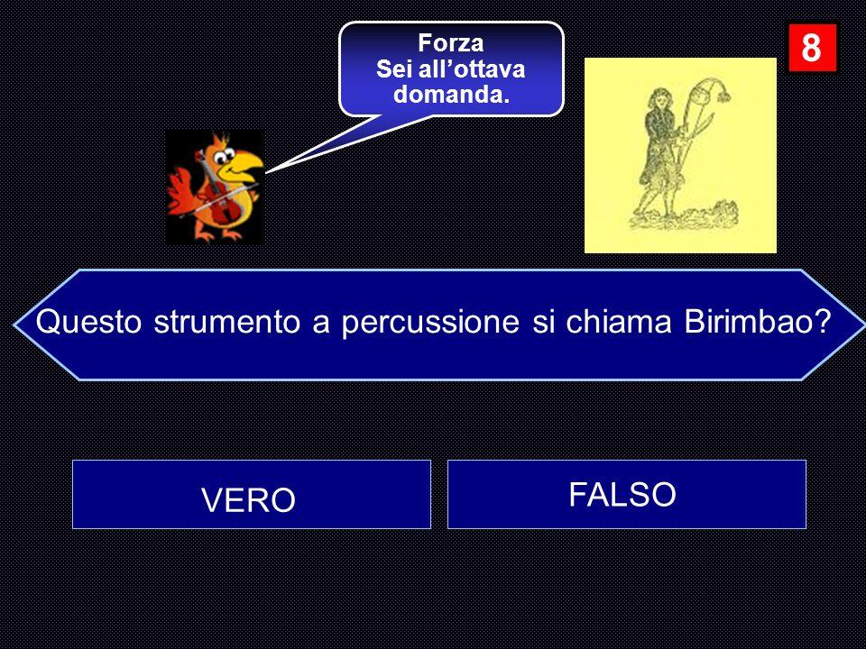 Questo strumento a percussione si chiama Birimbao
