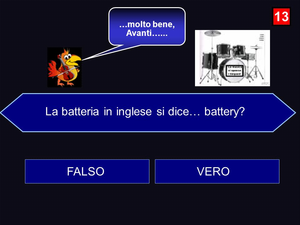 La batteria in inglese si dice… battery