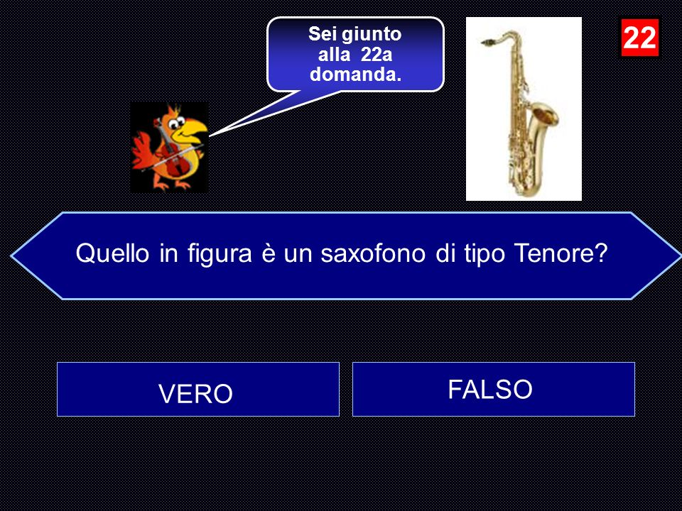 Quello in figura è un saxofono di tipo Tenore