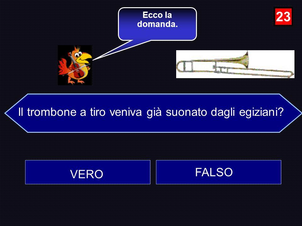 Il trombone a tiro veniva già suonato dagli egiziani