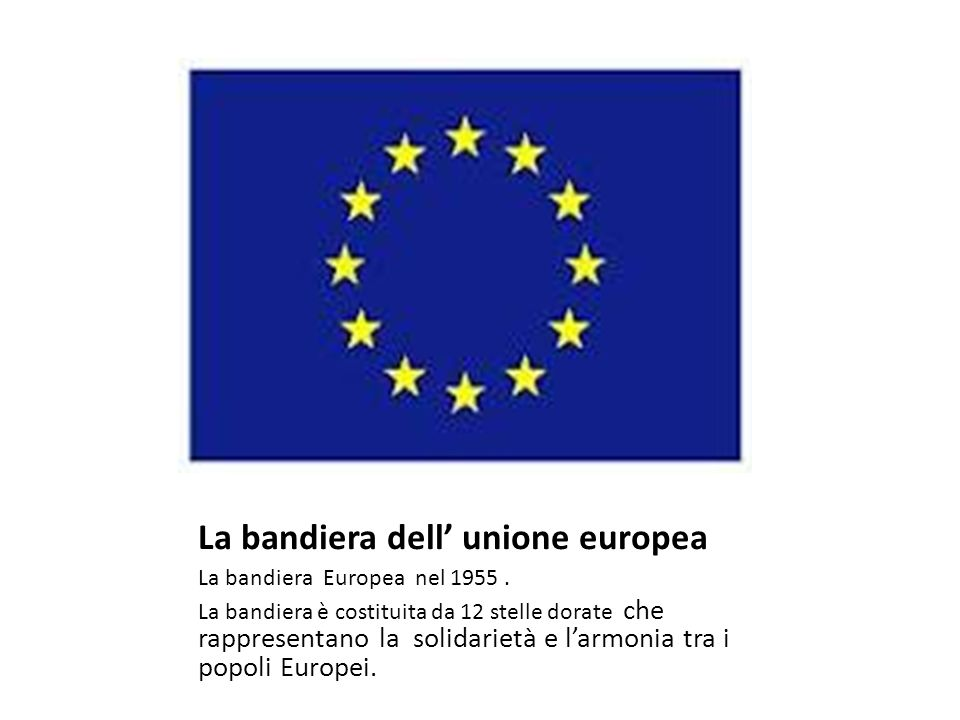 La bandiera dell' unione europea