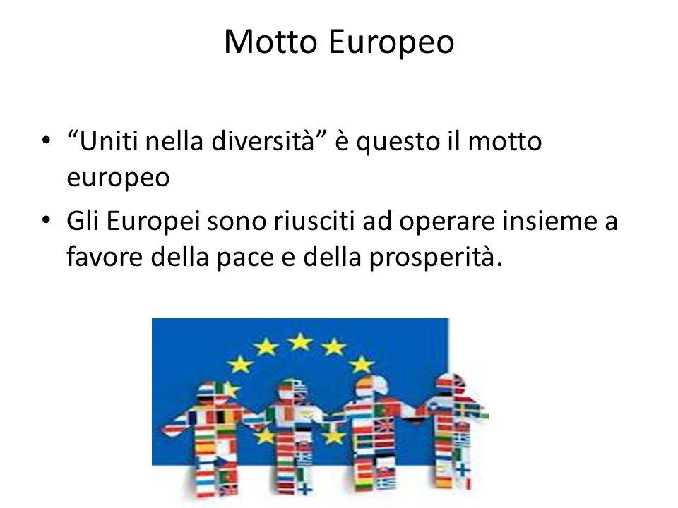 Motto Europeo Uniti nella diversità è questo il motto europeo