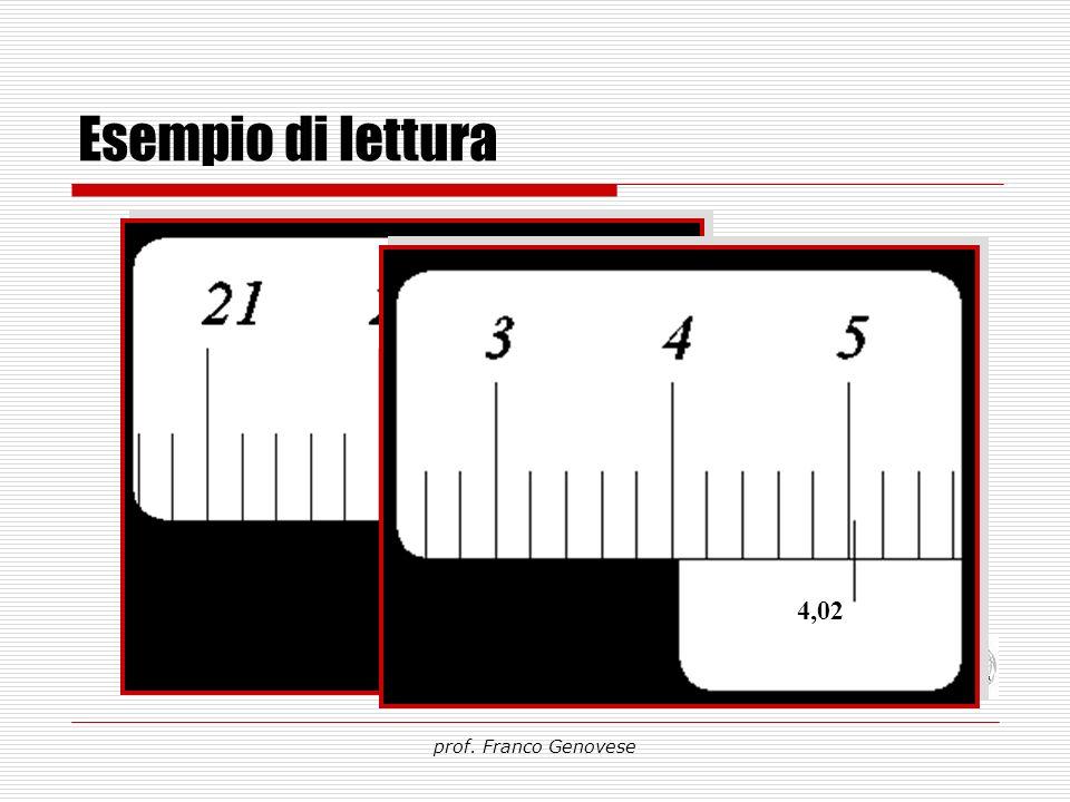 Esempio di lettura 22,18 4,02 prof. Franco Genovese