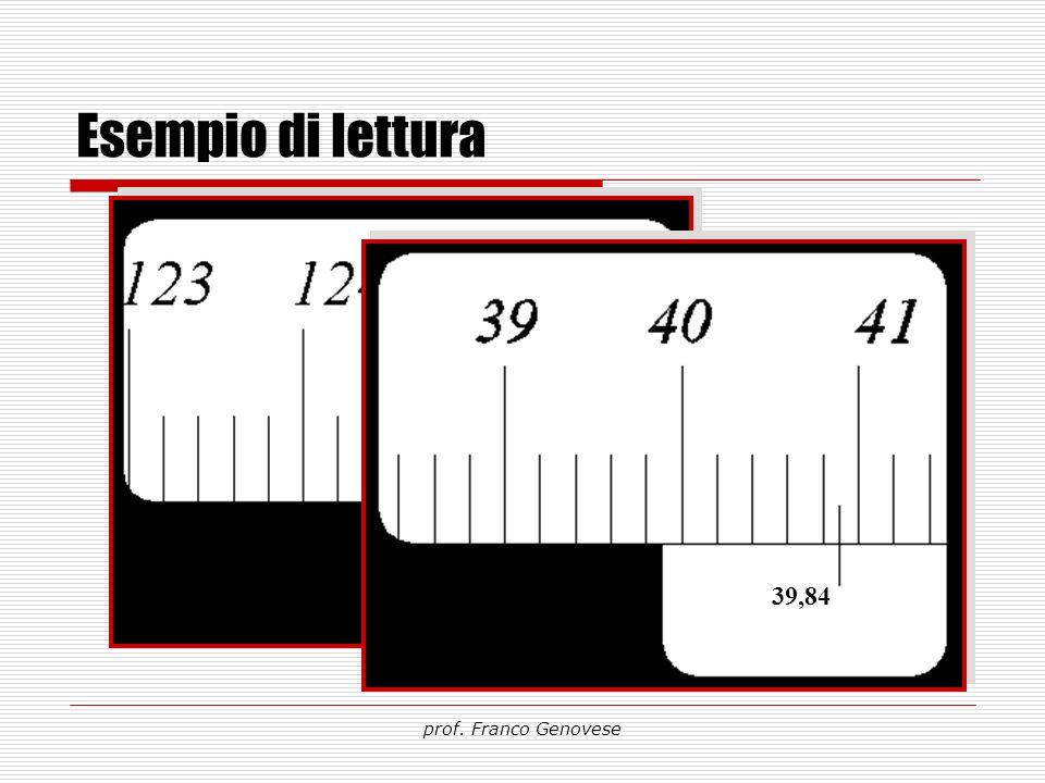 Esempio di lettura 124,58 39,84 prof. Franco Genovese