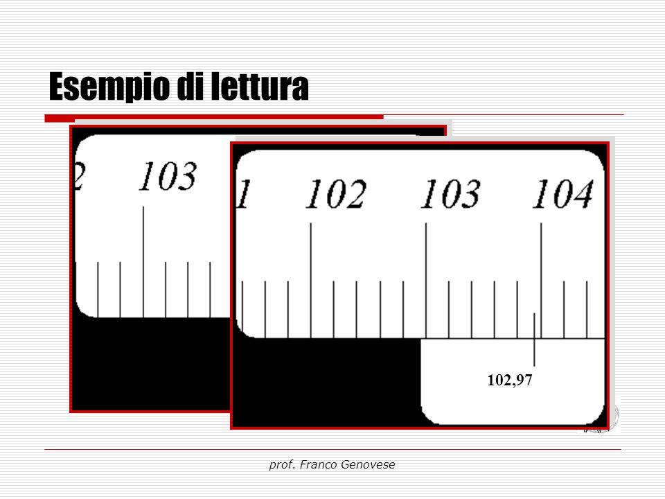 Esempio di lettura 104,00 102,97 prof. Franco Genovese