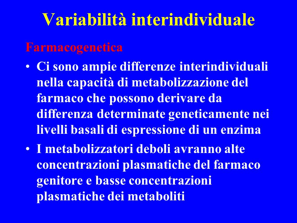 Variabilità interindividuale