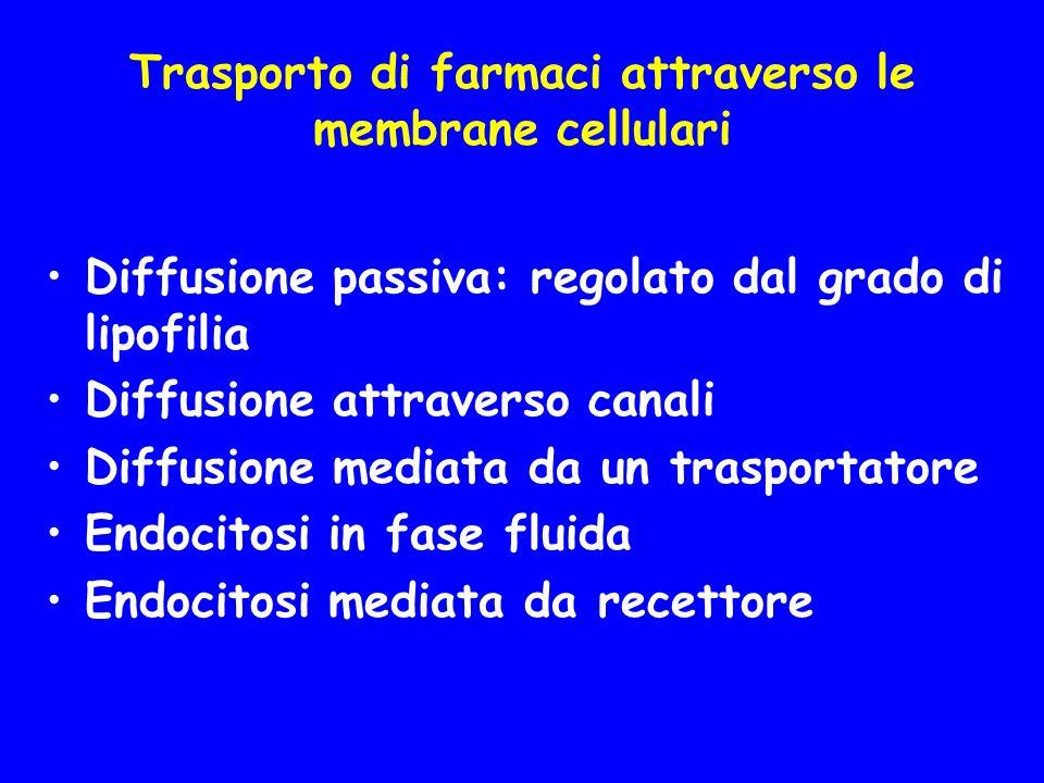 Trasporto di farmaci attraverso le membrane cellulari