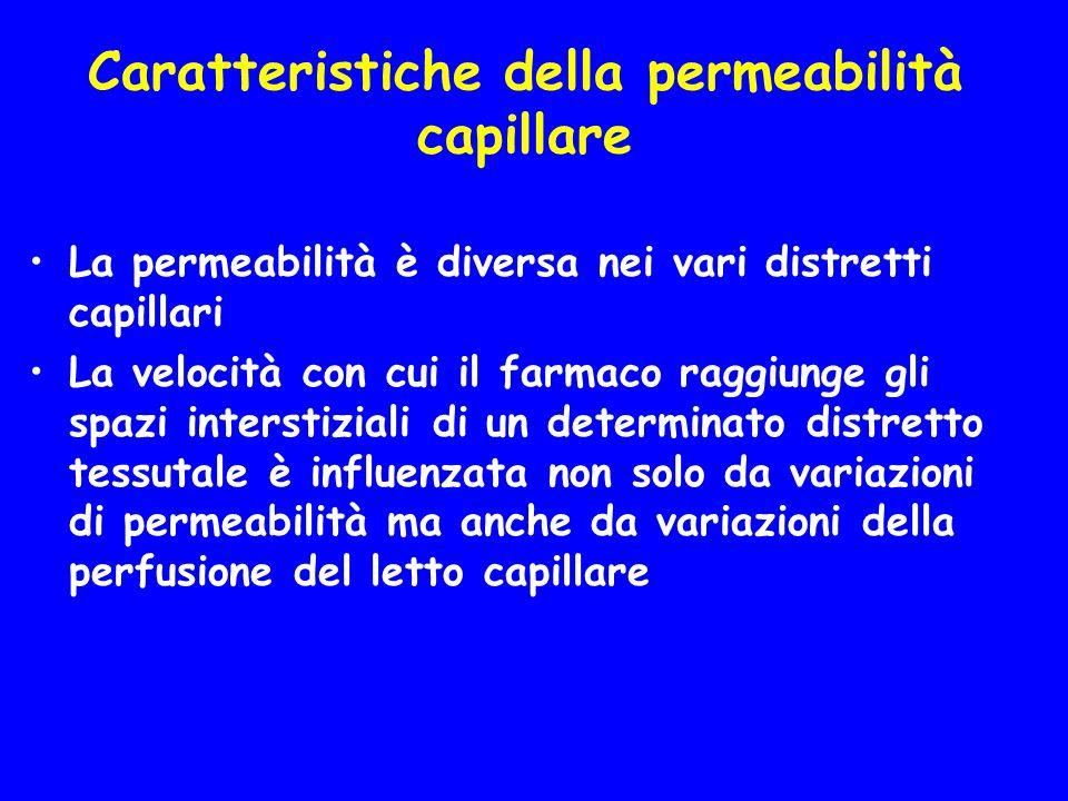 Caratteristiche della permeabilità capillare