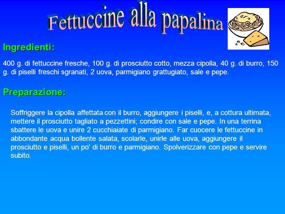 Fettuccine alla papalina