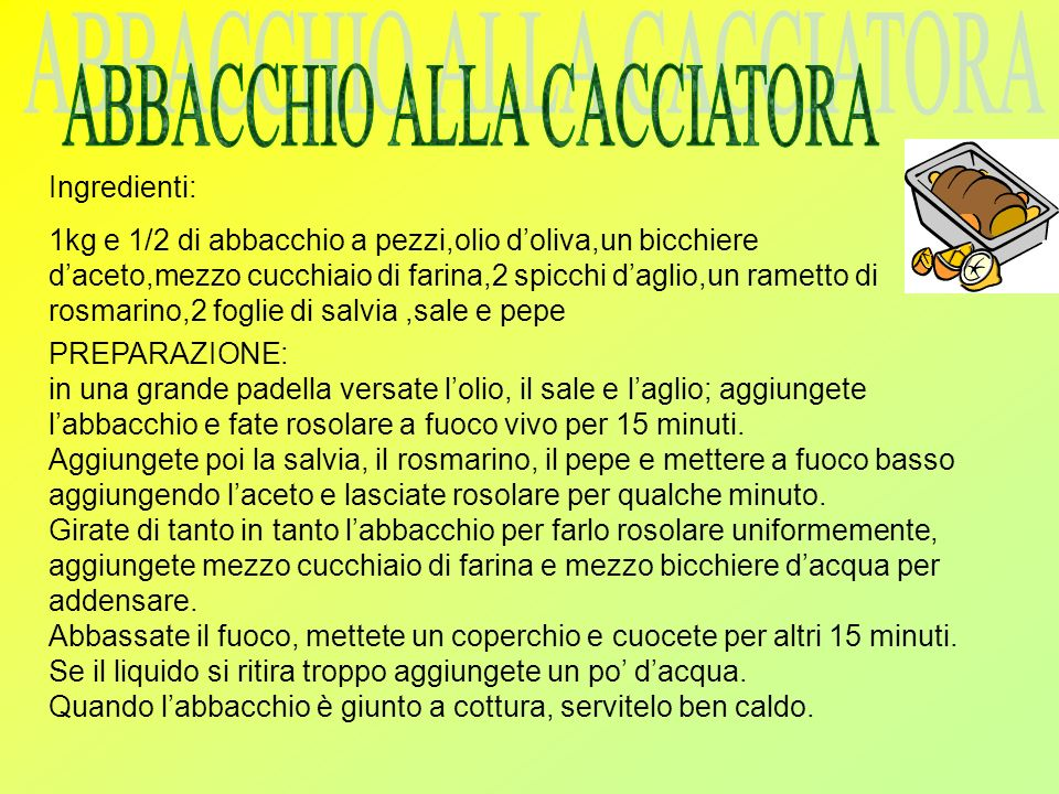 ABBACCHIO ALLA CACCIATORA