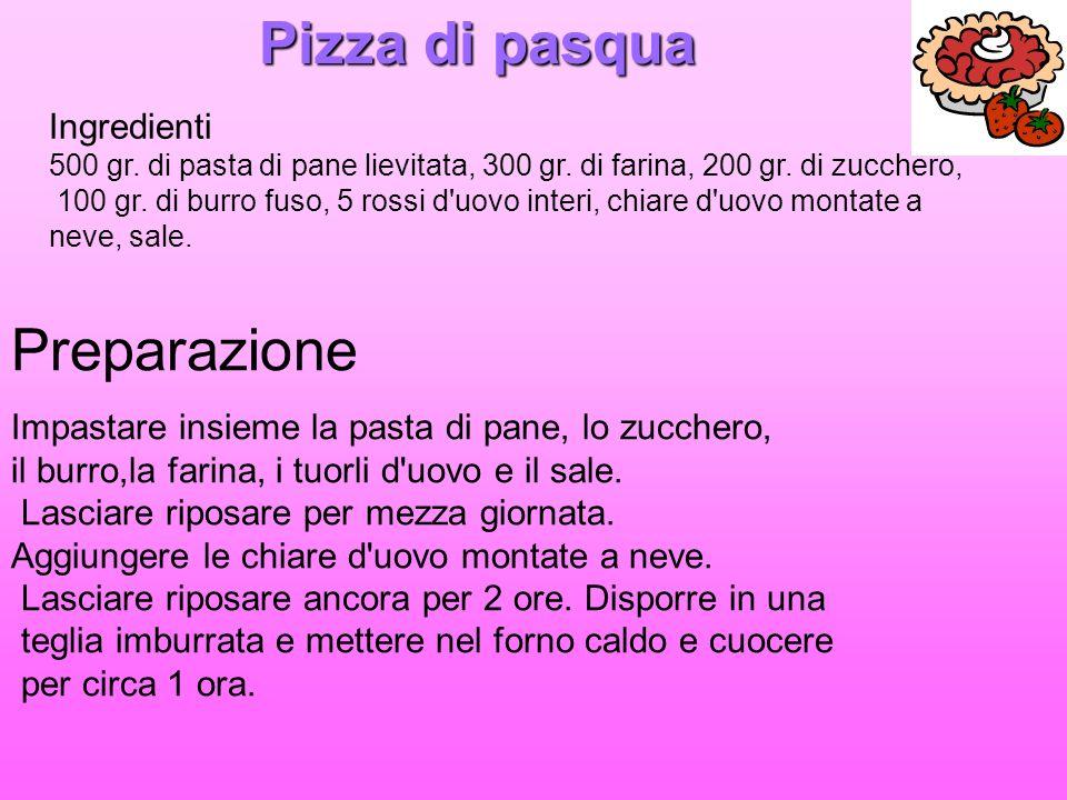 Pizza di pasqua Preparazione Ingredienti