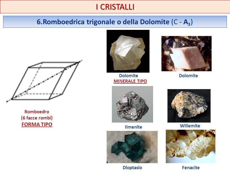 6.Romboedrica trigonale o della Dolomite (C - A3)