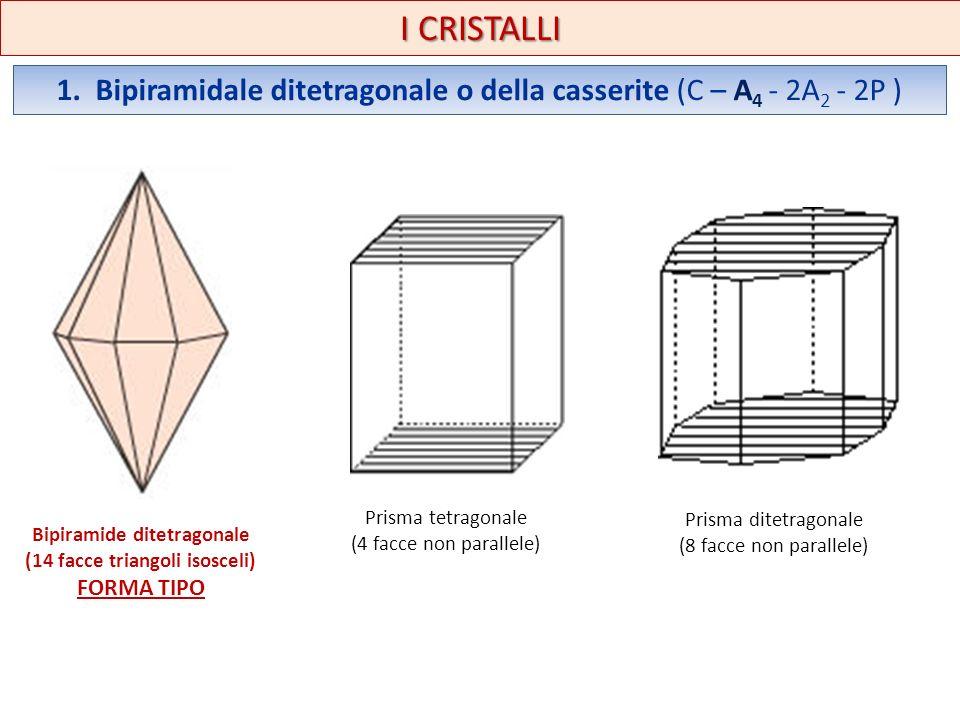 Bipiramide ditetragonale (14 facce triangoli isosceli)